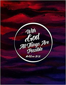 Matthew 19:26 With God all things are possible: Bible Verse Quote