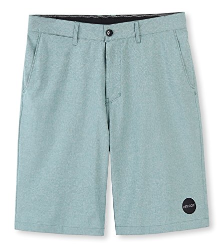 (HETHCODE Men's Casual Classic Fit Hybrid Submersible Chino Walk Shorts Pale Green)