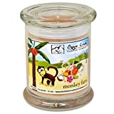 Monkey Farts Natural Scented Soy Wax 12oz Candle. Aromatherapy Soy Candles Burn Cleaner ~ Longer ~ Non-Toxic ~ 100% Yinzer Made in USA. Used For Special Occasions - Sugar Creek Candles