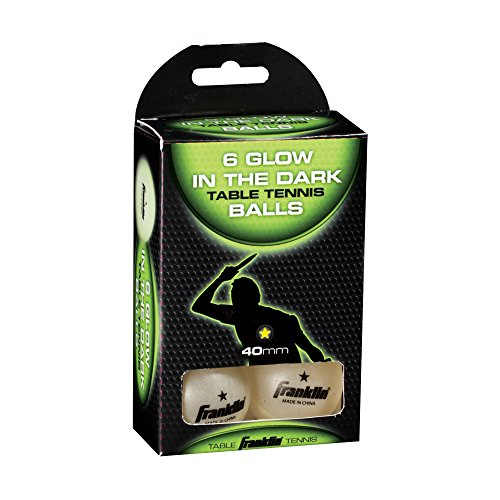 Franklin Sports 1 Star GID Table Tennis Balls (Pack of 6), 40 (Glow In The Dark Ping Pong Balls)