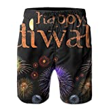 BECPat8 Happy Diwali Men's Boxer Trunks Comfort Quick Dry Workout Sport Running Watershorts Without Lining For Man