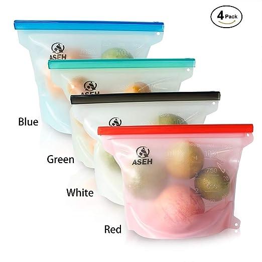 Bolsas de silicona reutilizables para almacenamiento de ...