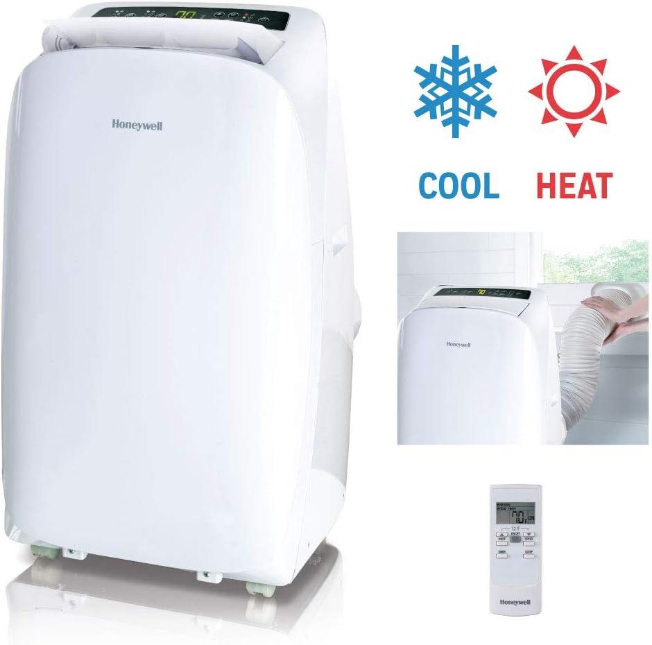Honeywell, HL14CHESWW aire acondicionado portátil con bomba de calor, ventilador y deshumidificador con protección de sobrecarga térmica, 14,000 BTU: Amazon.es: Grandes electrodomésticos