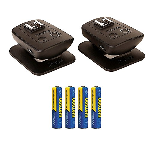 Cactus Wireless Flash Transceiver V5 Duo AAA NiMH Rechargeable Batteries (1000mAh) 4-Pack by Cactus