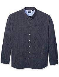 Men's Big and Tall Long Sleeve Button Down Comfort Flex Shirt