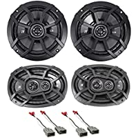 Kicker Factory Speaker Replacement Kit w/ (4) Speakers For 1996-98 Honda Civic