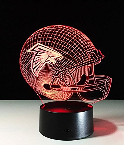 Football Helmet Light - Touch Control Football Helmet Light- Upgraded Color Changing Touch Light - Night Light for Boys Men Women - Perfect Gift for Football Sports Lovers (Atlanta Falcons)