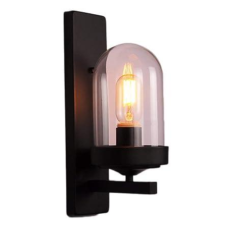 Wall Light Lamp Einzelner Kopf Schwarz Retro Halterung Lampe Mit