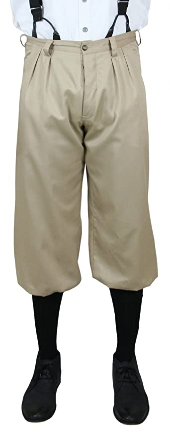Edwardian Men's Pants, Trousers, Overalls Cotton Twill Knickers $64.95 AT vintagedancer.com