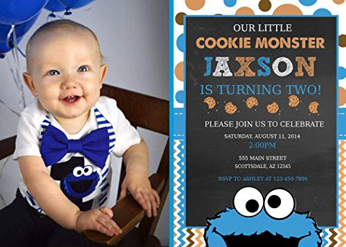- Cookie Monster Birthday Invitation