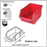 Red medium ECO-Box storage bin 24x15.5x12.5 cm, 4 sizes, 5 colours by Patrol