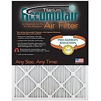 Accumulair Titanium 16x25x1 (15.5x24.5) High Efficiency Allergen Reduction Air Filter/Furnace Filter