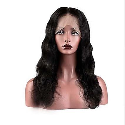 MZP Mujer Pelucas de Cabello Natural Cabello humano Encaje Frontal Frontal sin Pegamento 130% Densidad