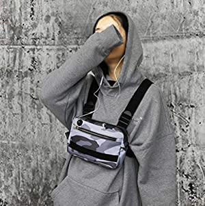 Utility Outdoor Sports Chest Bag Harness Pocket Pack Men's and Women's Equipment for Leisure Running, Hiking (Camo) (Color: Camo, Tamaño: Large)