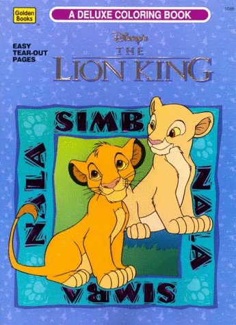 Disneys The Lion King Deluxe Coloring Book 9780307055880 Amazon Books