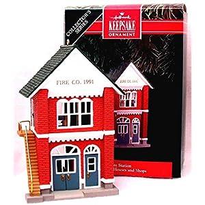 Fire Station Nostalgic Houses & Shops 8th in Series 1991 Hallmark Ornament QX4139