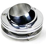 "Ididit Steering 2401550040 2"" Polished Aluminum Chrome Swivel Ball Floor Mount"