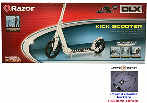 Razor A5 DLX Kick Scooter with Active Energy Power Balance N