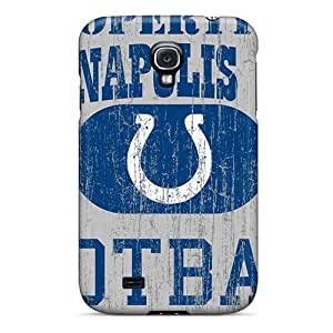 Shock-Absorbing Hard Phone Case For Samsung Galaxy S4 (Xyn12899jPII) Allow Personal Design Fashion Indianapolis Colts Image