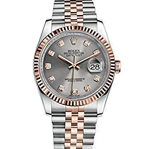 51RBN4q5zHL. SS300  - Rolex Datejust 36 Steel Rose Gold Watch Steel Diamond Dial 116231
