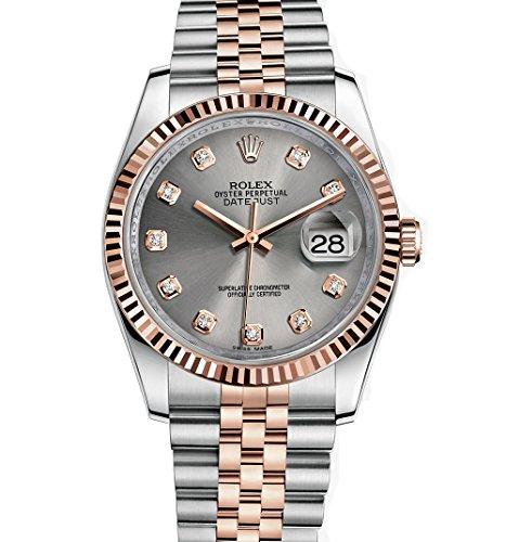Rolex Datejust 36 Steel Rose Gold Watch Steel Diamond Dial (Rolex Pink Watch)