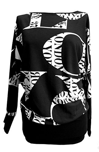 DangerousFX - Camiseta Multicolor negro/blanco 44/46