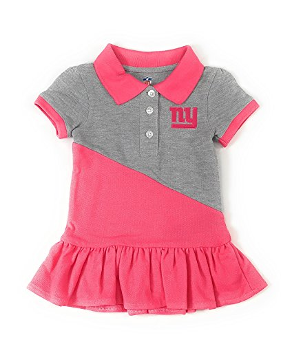 Pink Ny Giants (Outerstuff New York Giants Football Pink Girls Good Sport Polo Dress Clothing)