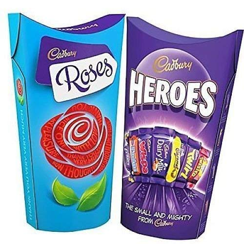 Cadbury Roses and Heroes 290g each (Twin Pack)
