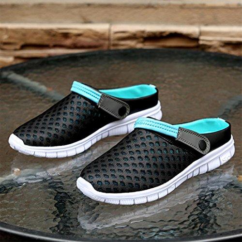 Schuhe Garten Sommer Licht Super Malloom® Damen Unisex Komfortable Anti Breathable Schwarz Rutsch und Herren Mesh Walking Clogs Sandalen w0IqaI6