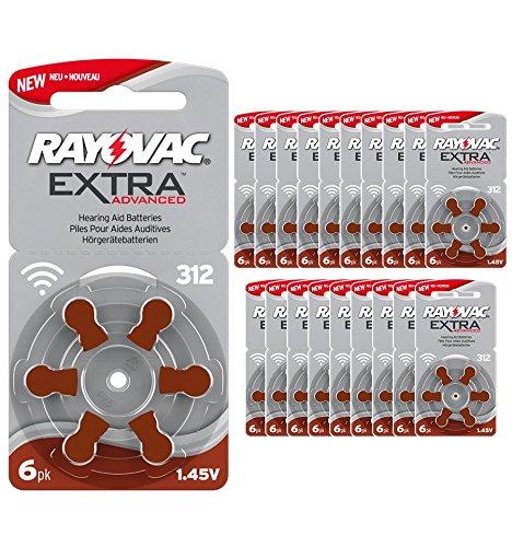 120 Rayovac 312 - Paquete de pilas para audífonos pila PR41, compatible con 312AE,