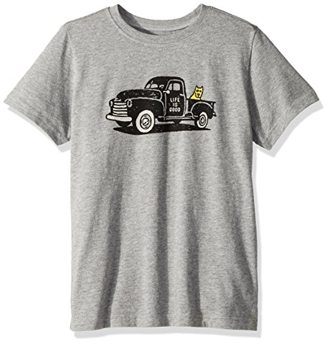 Life is Good Boy's Crusher Rocket Truck, Heather Gray, X-Large