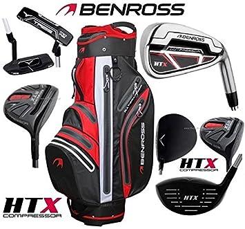 Benross HTX Compressor - Juego de golf de grafito para hombre y carro HTX 2018 impermeable: Amazon.es: Deportes y aire libre