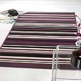 Flair Rugs Element Canterbury Striped Rug, Purple/Black, 120 x 160 Cm by Flair Rugs