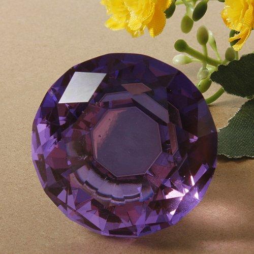 Revesun 4pcs 40mm-Purple Diamond Crystal Cupboard Wardrobe Cabinet Drawer Knob Door Pull Handle (Purple Crystal Cabinet Knobs compare prices)