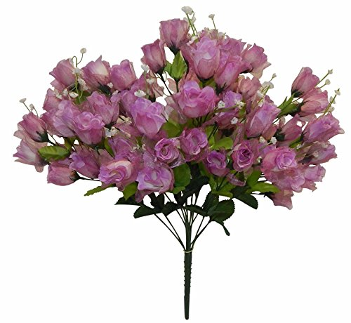 OOHHOO 70 Mini Roses Buds ~ Mauve Lavender ~ Silk Wedding Flowers Centerpieces Bouquets