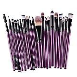 Sunbona  Clearance Makeup Brush 20 Pcs Makeup Brush Set Professional Face Eye Shadow Eyeliner Foundation Blush (Purple)