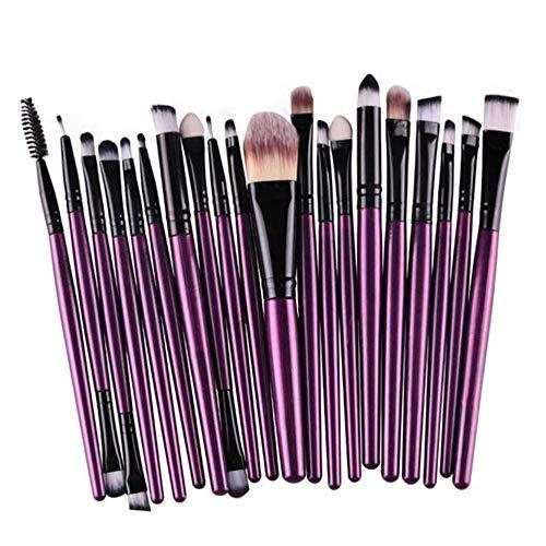 � Clearance Makeup Brush 20 Pcs Makeup Brush Set Professional Face Eye Shadow Eyeliner Foundation Blush (Purple) ()
