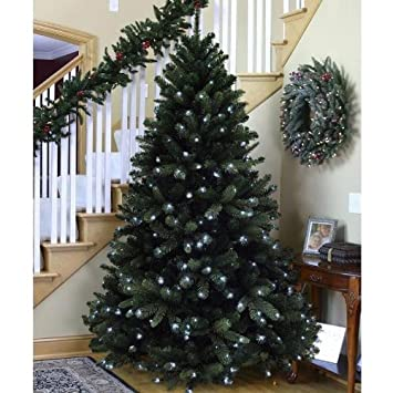 6FT Pre Lit 350 Warm White Led PE Realistic Christmas Tree with 7 ...
