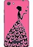 AMEZ designer printed 3d premium high quality back case cover for Micromax Unite 3 Q372 (cute pink girl princess)