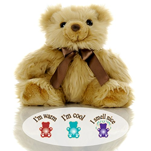 Bear Stuffed Animal Buddy (Toasty Junior Bear - Lavender Aromatherapy Microwavable Stuffed Animal - Hot & Cold Therapy - Perfect for Autism, ADHD, Occupational Therapy)