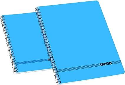 Enri Oficina 100430029 - Pack de 10 cuadernos espiral tapa blanda ...