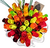 Fall Harvest Festival Thanksgiving Flower Bouquet The Original Wooden Rose Closed bud (3 Dozen)