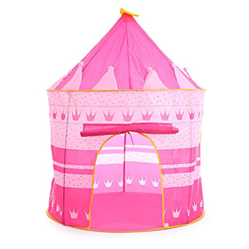 Children Folding Play House Portable Outdoor Indoor Toy Tent Castle Cubby Playhut (red) (Land Twin Basketball)