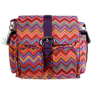 Kalencom Matte Coated Double Duty Diaper Bag, Zig Zag