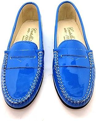 Castellano® 1920 Madrid Mocasín de Charol en Color Azul