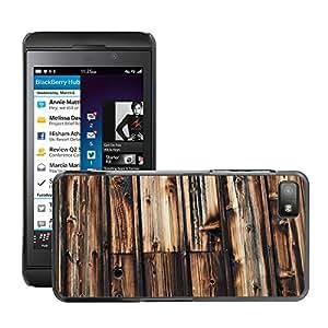 Etui Housse Coque de Protection Cover Rigide pour // M00150476 Madera de madera Fondo de pared // BlackBerry Z10
