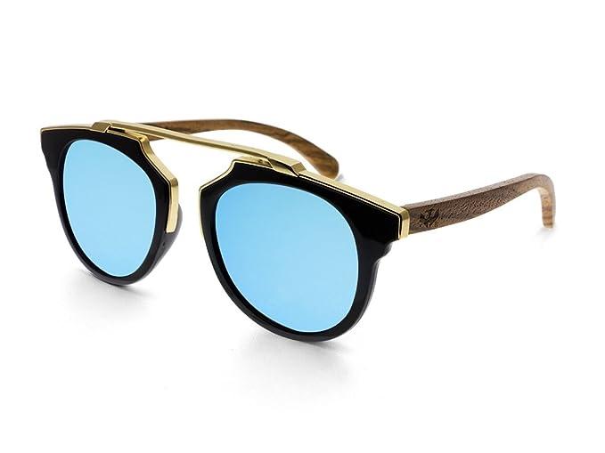 Gafas de sol MOSCA NEGRA ® modelo MIX GOLD Blue - Polarized ...