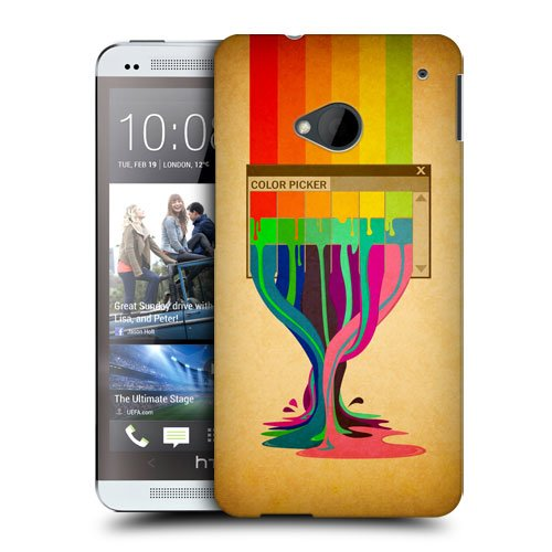 Head Case Designs Colour Picker Colour Drips Protective Snap-on Hard Back Case Cover for HTC One