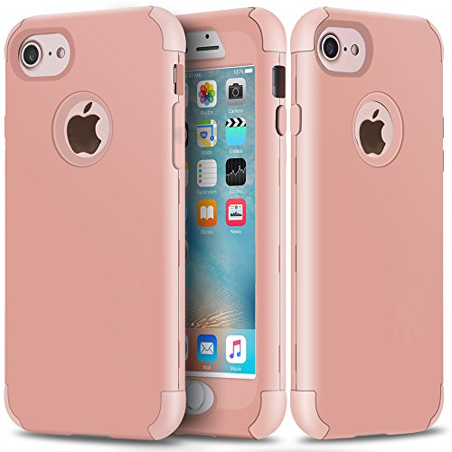 Crystal Slider Case (iPhone 6 Case, iPhone 6S Case, SUMOON [Drop Protection] Hybrid Heavy Duty Three Layer Verge Shockproof Full-Body Protective Armor Defender Case for iPhone 6 6s 4.7 Inch (Rose Gold))