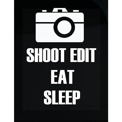 bf6b30f2cf Amazon.com: URBANTURB Shoot Edit Eat Sleep Repeat Photographer T ...
